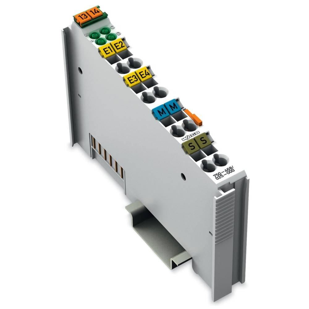 WAGO 4-kanalna-analogna vhodna spona 750-468/025-000 prek sistemske napetosti / DC vsebuje: 1 kos