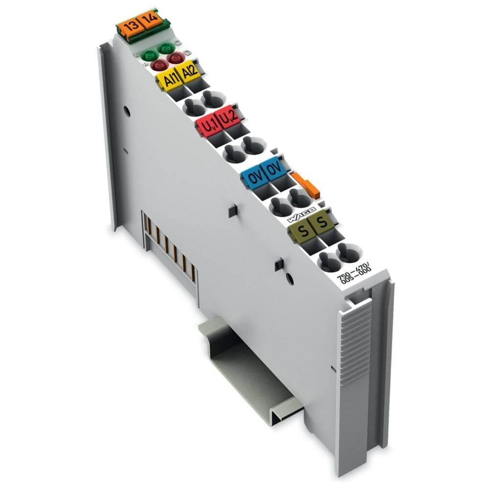WAGO 2-kanalna-analogna vhodna spona 750-470/005-000 prek sistemske napetosti / DC vsebuje: 1 kos
