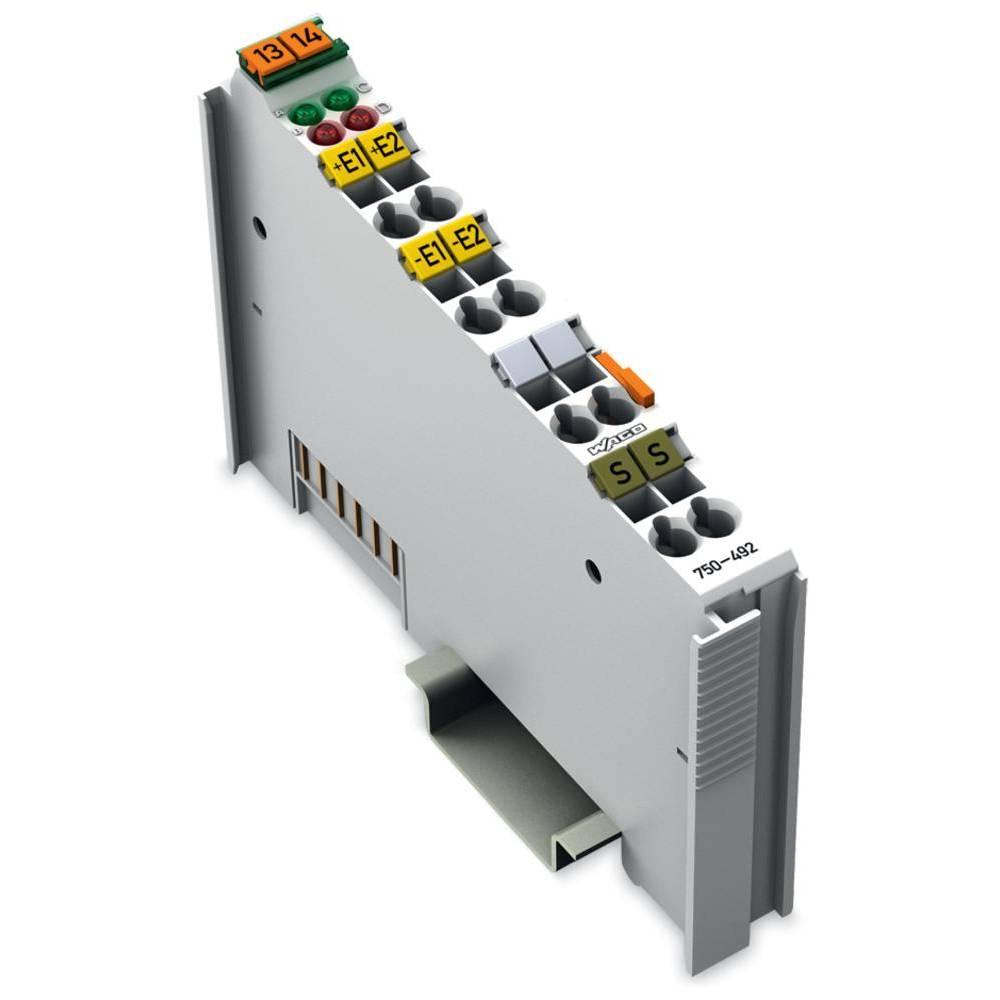 WAGO 2-kanalna-analogna vhodna spona 750-492 prek sistemske napetosti / DC vsebuje: 1 kos