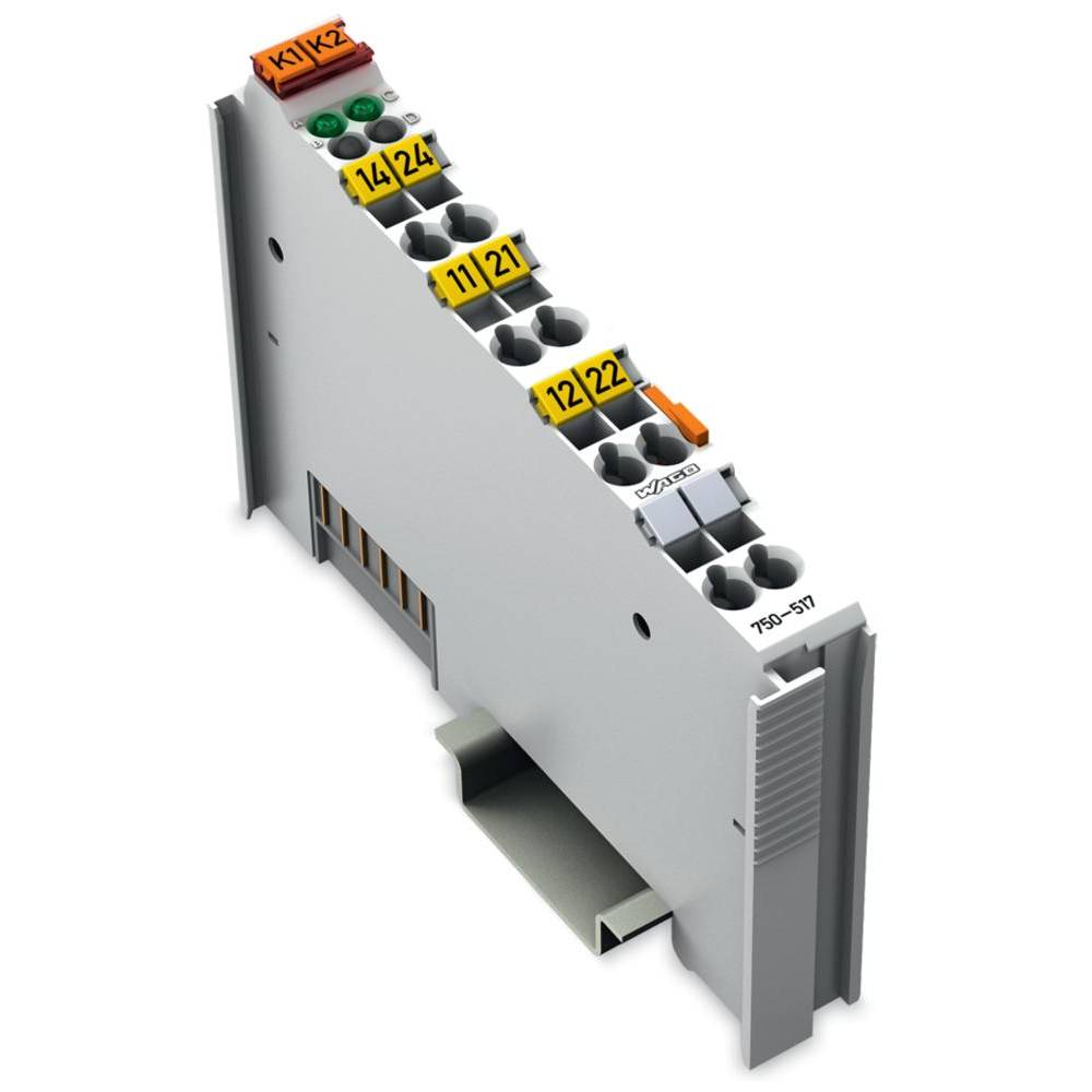 WAGO 2-kanalni-relejska izhodna spona 750-517 vsebuje: 1 kos