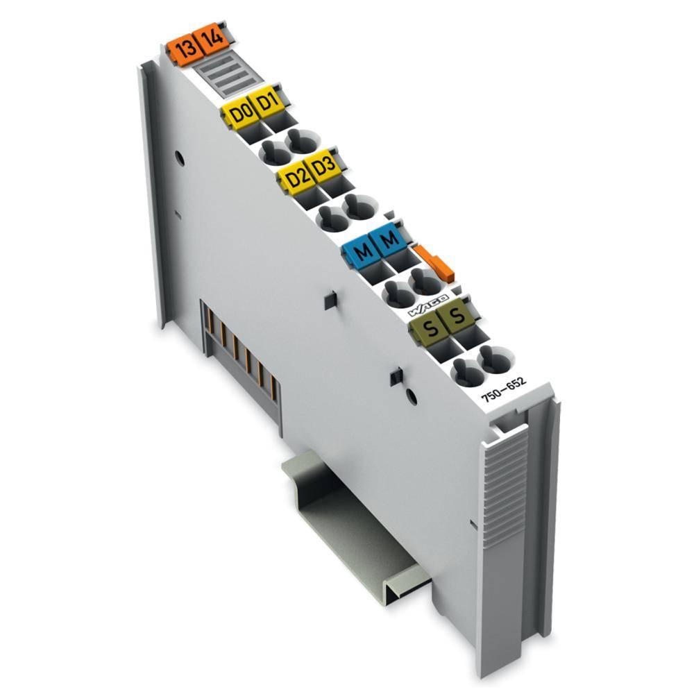 WAGO serijski vmesnik 750-652 prek sistemske napetosti DC/DC vsebuje: 1 kos