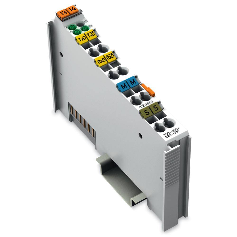 WAGO serijski vmesnik 750-653/025-018 prek sistemske napetosti DC/DC vsebuje: 1 kos