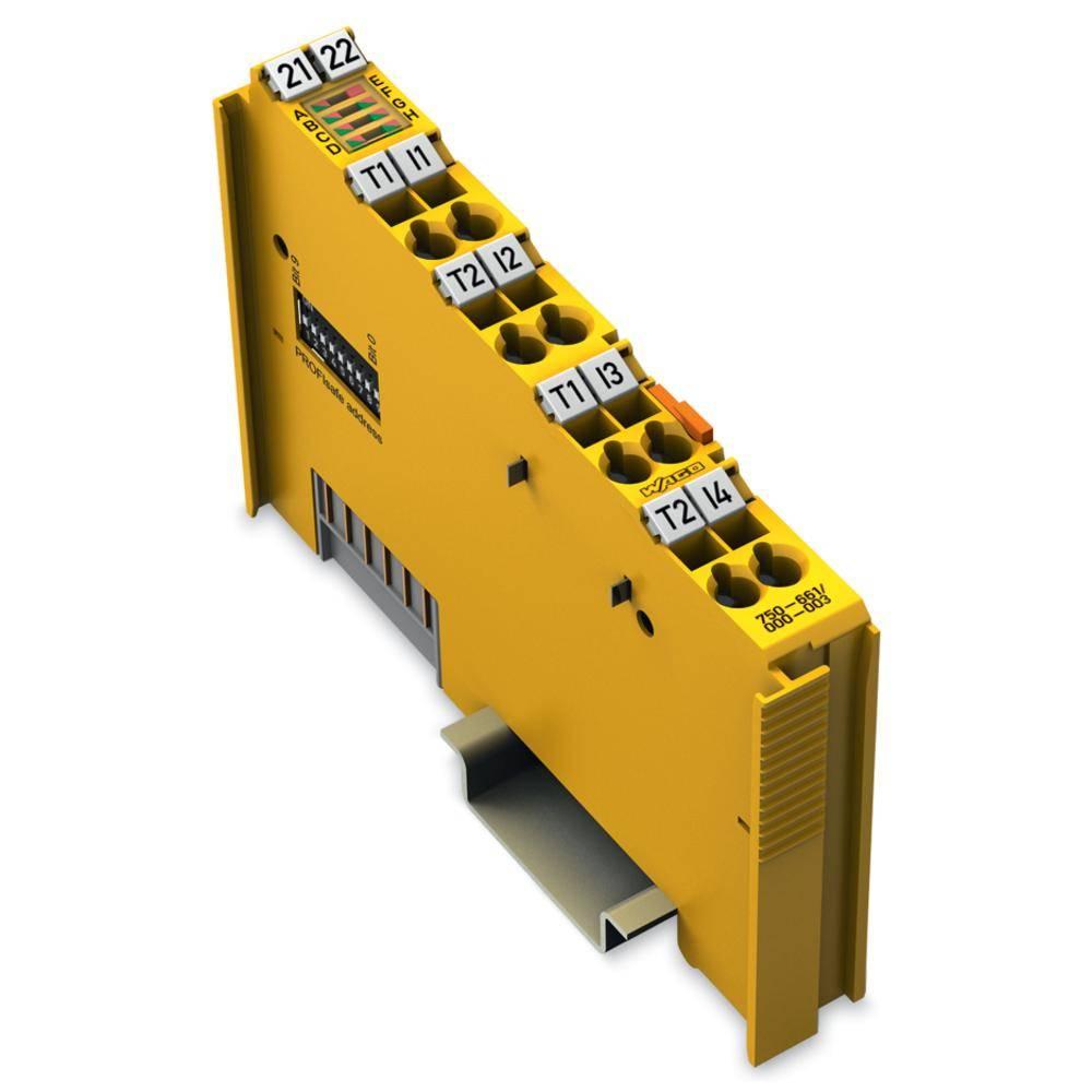 WAGO 4-kanalna-digitalna vhodna spona PROFIsafe V2 iPar 750-661/000-003 24 V/DC vsebuje: 1 kos