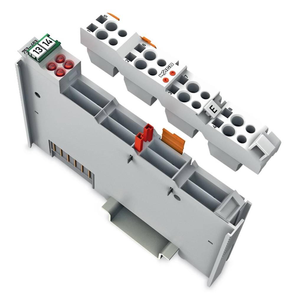 WAGO 4-kanalna-analogna vhodna spona 753-453 prek sistemske napetosti / DC vsebuje: 1 kos