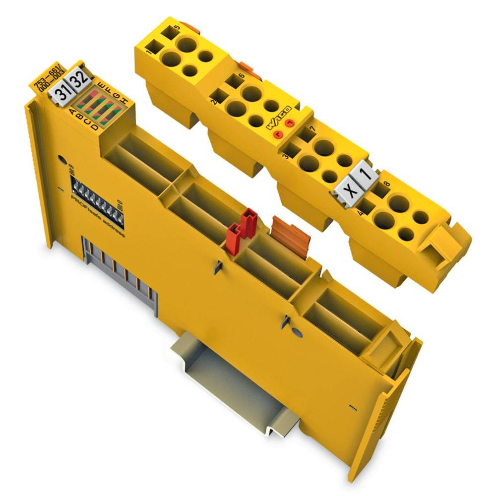 WAGO 4-kanalna-digitalna vhodna spona PROFIsafe V2 iPar 753-661/000-003 24 V/DC vsebuje: 1 kos