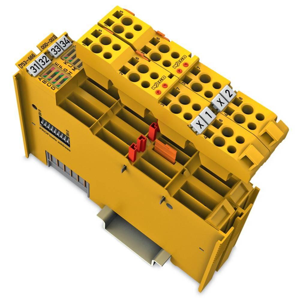 WAGO zavarovani 4-kanalni-digitalni vhod- in 2-kanalna-digitalna izhodna spona PROFIsafe V2 iPar 753-666/000-003 24 V/DC vsebuje