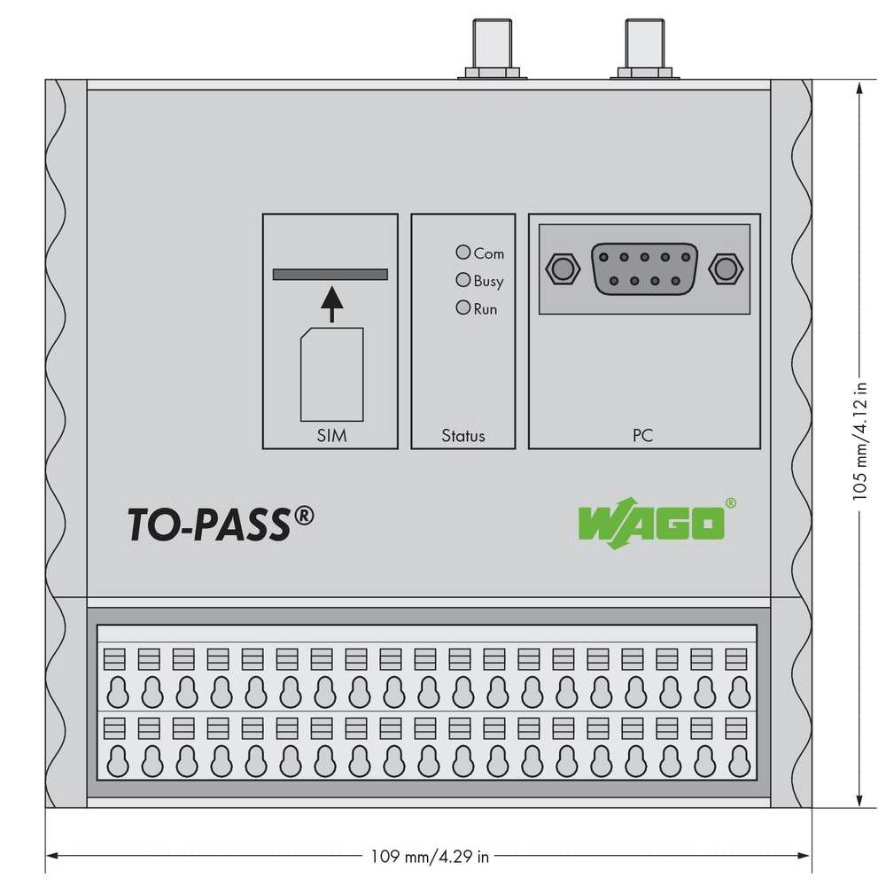 WAGO TO-PASS® Mobile 761-314 vsebuje: 1 kos