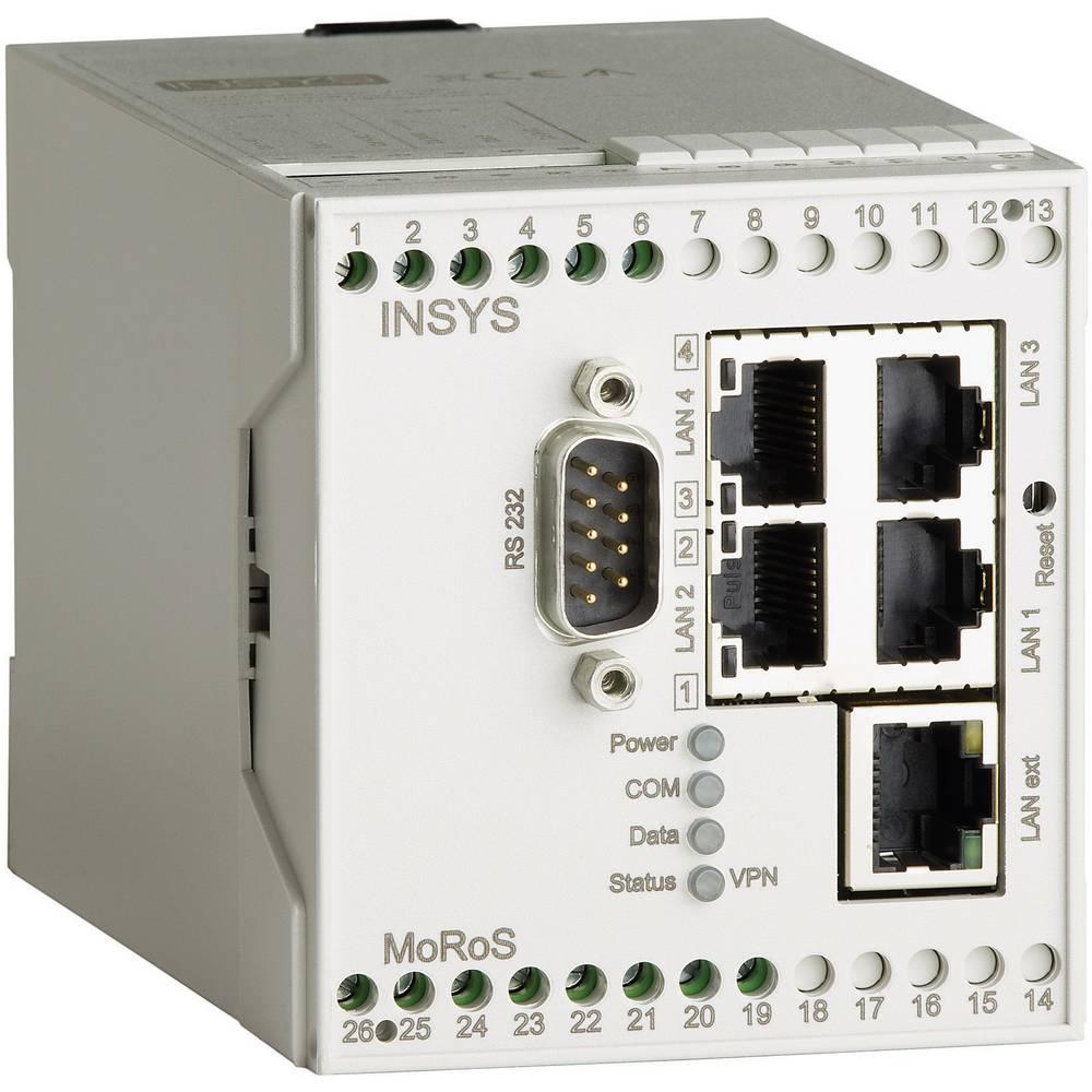 LAN-usmerjevalnik Insys MoRoS,10-60 V/DC, 4 x RJ45 (notranji), 1 x RJ45 (zunanji) 10000208