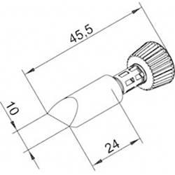 Spajkalna konica v obliki dleta Ersa 0102CDLF100/SB velikost konice 10 mm dolžina konice 45.5 mm vsebuje 1 kos