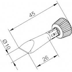 Spajkalna konica v obliki dleta Ersa 0102CDLF100C/SB velikost konice 10 mm dolžina konice 45 mm vsebuje 1 kos