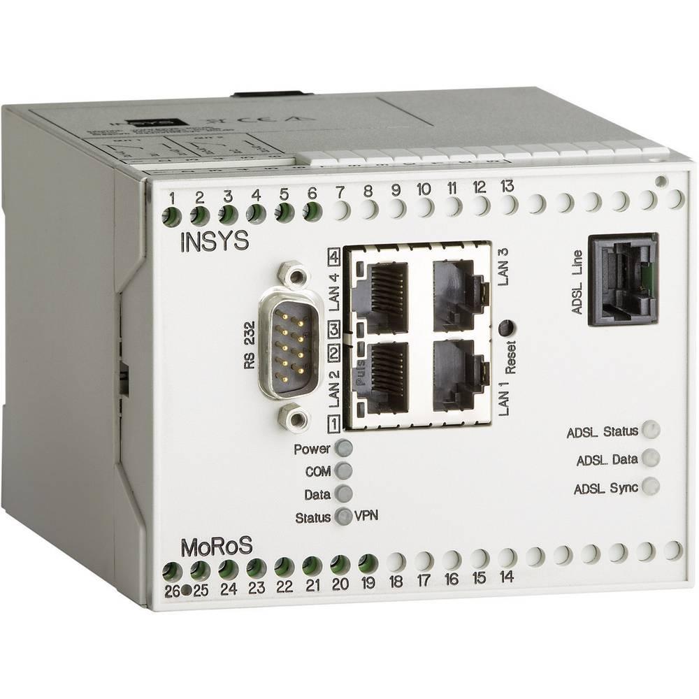 Usmerjevalnik Insys MoRoS ADSLPro, 10-60 V/DC, vmesniki: 4xRJ45, 1 x RS232 10000216