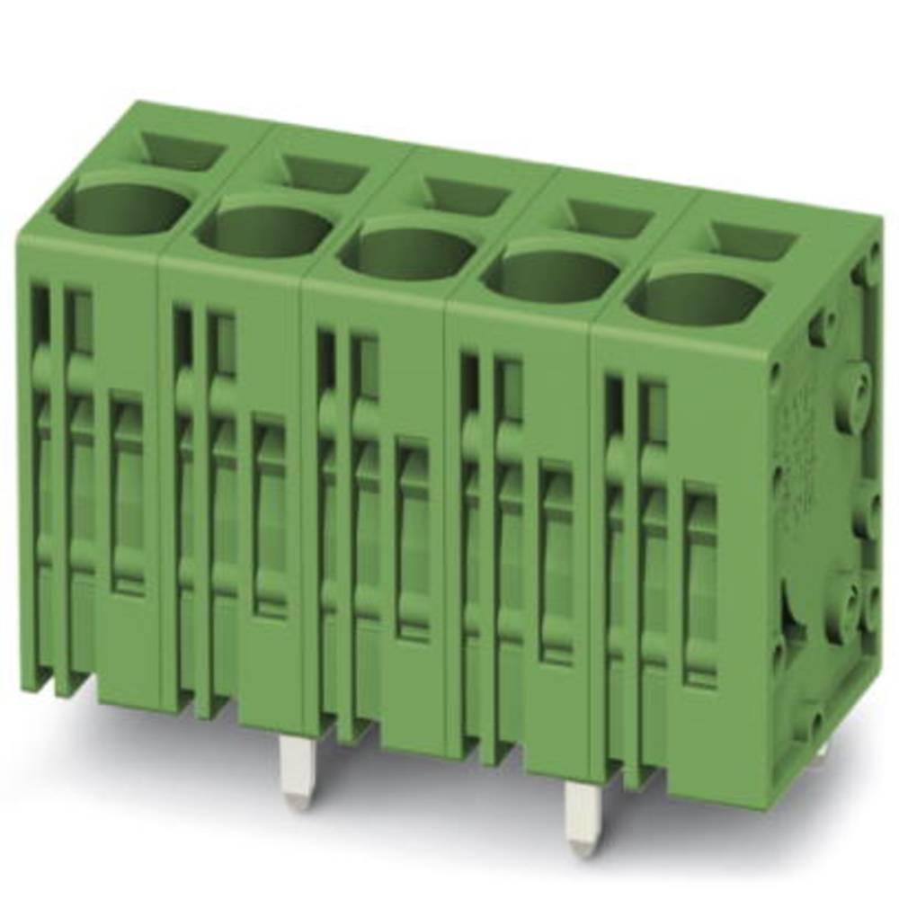 Fjederkraftsklemmeblok Phoenix Contact SPT 5/ 2-V-7,5-ZB 6.00 mm² Poltal 2 Grøn 50 stk
