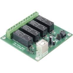 USB 4-struka relejna kartica Conrad Komplet za sastavljanje 5 V/DC, izlazna snaga 8 A/24 V/DC