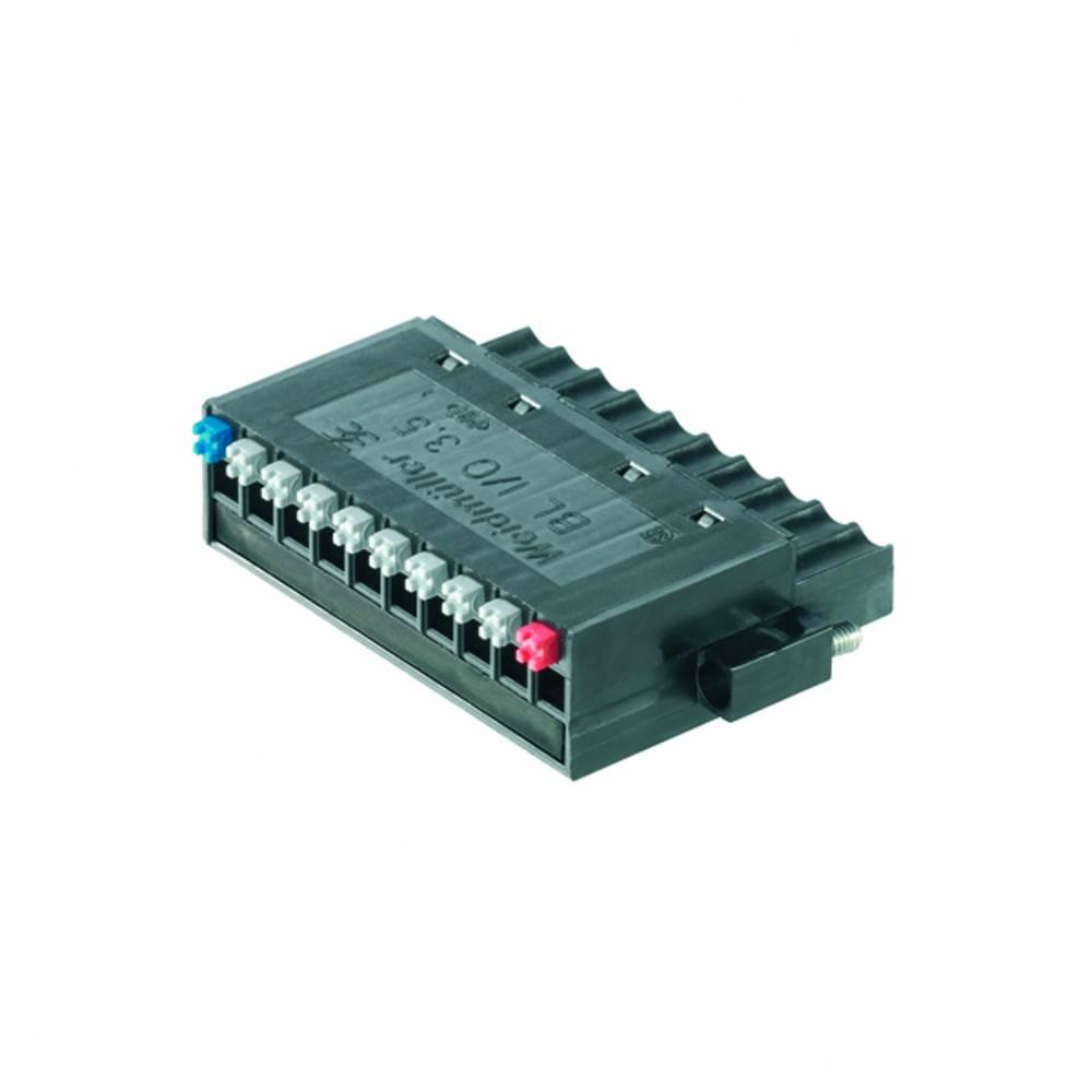 Tilslutningskabinet-kabel BL/SL Samlet antal poler 10 Weidmüller 1779880000 Rastermål: 3.50 mm 20 stk