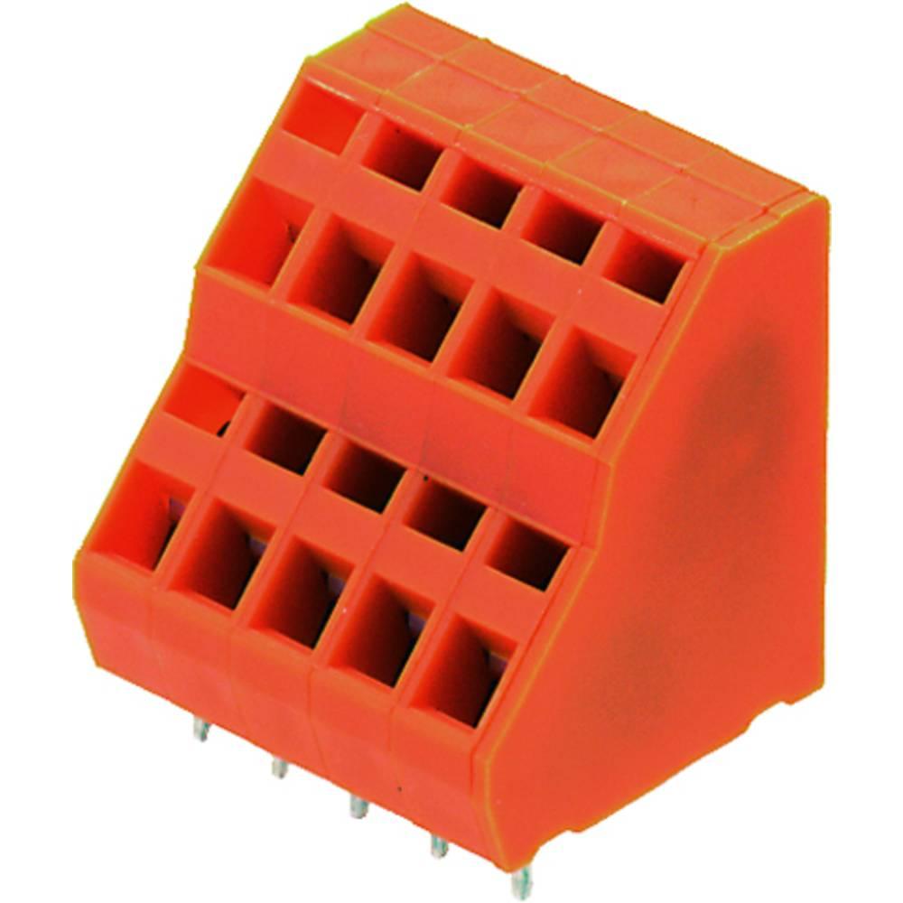 Dobbeltrækkeklemme Weidmüller LM2NZF 5.08/26/135 3.5SN OR BX 1.50 mm² Poltal 26 Orange 10 stk