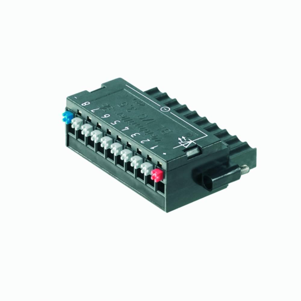 Tilslutningskabinet-kabel BL/SL (value.1360602) Samlet antal poler 10 Weidmüller 1789090000 Rastermål: 3.50 mm 20 stk