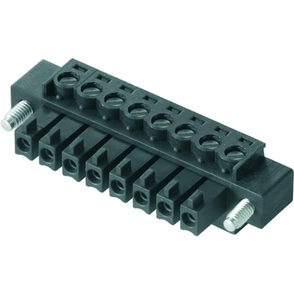 Tilslutningskabinet-kabel BC/SC (value.1360601) Samlet antal poler 10 Weidmüller 1793100000 Rastermål: 3.81 mm 50 stk