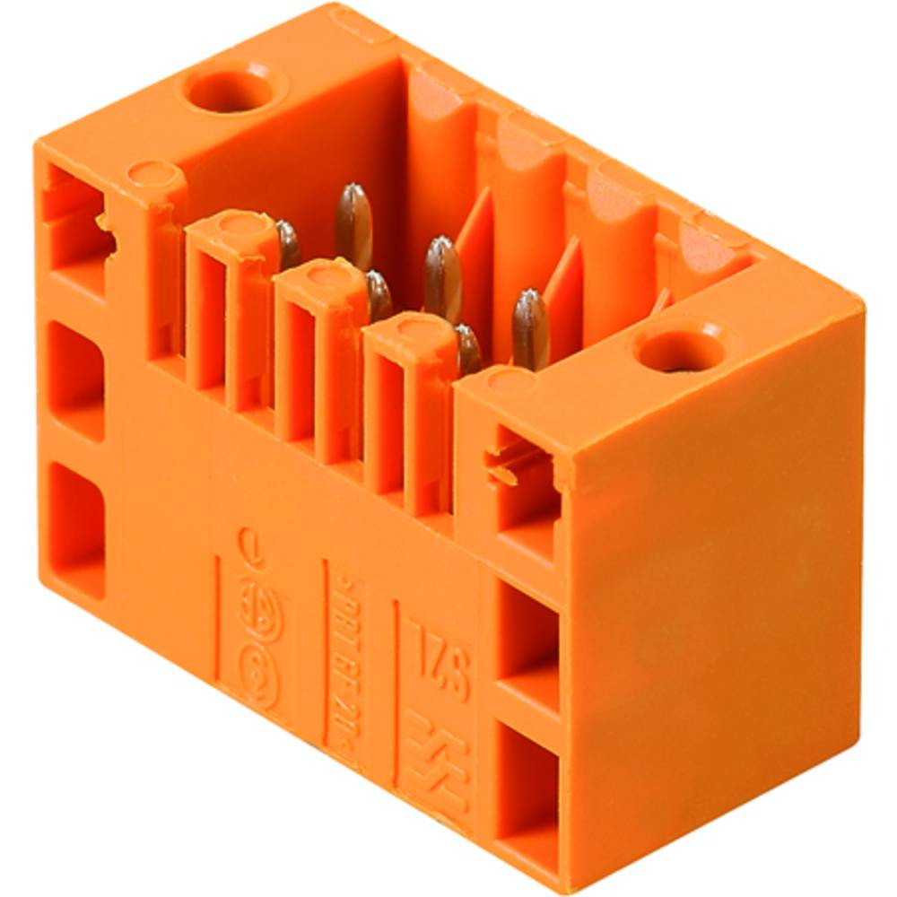 Vtični konektor za tiskana vezja črne barve Weidmüller 1795200000 vsebuje: 102 kosa