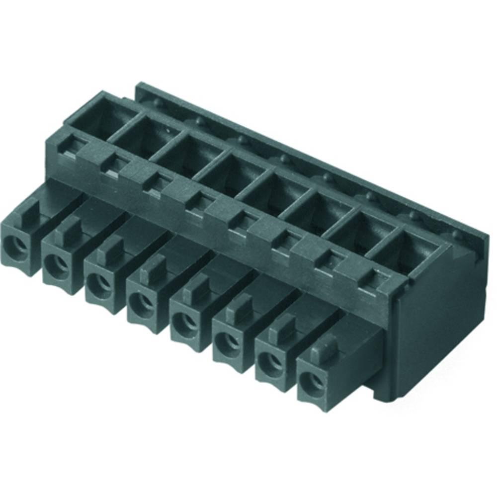 Tilslutningskabinet-kabel BC/SC (value.1360601) Samlet antal poler 3 Weidmüller 1798120000 Rastermål: 3.81 mm 50 stk