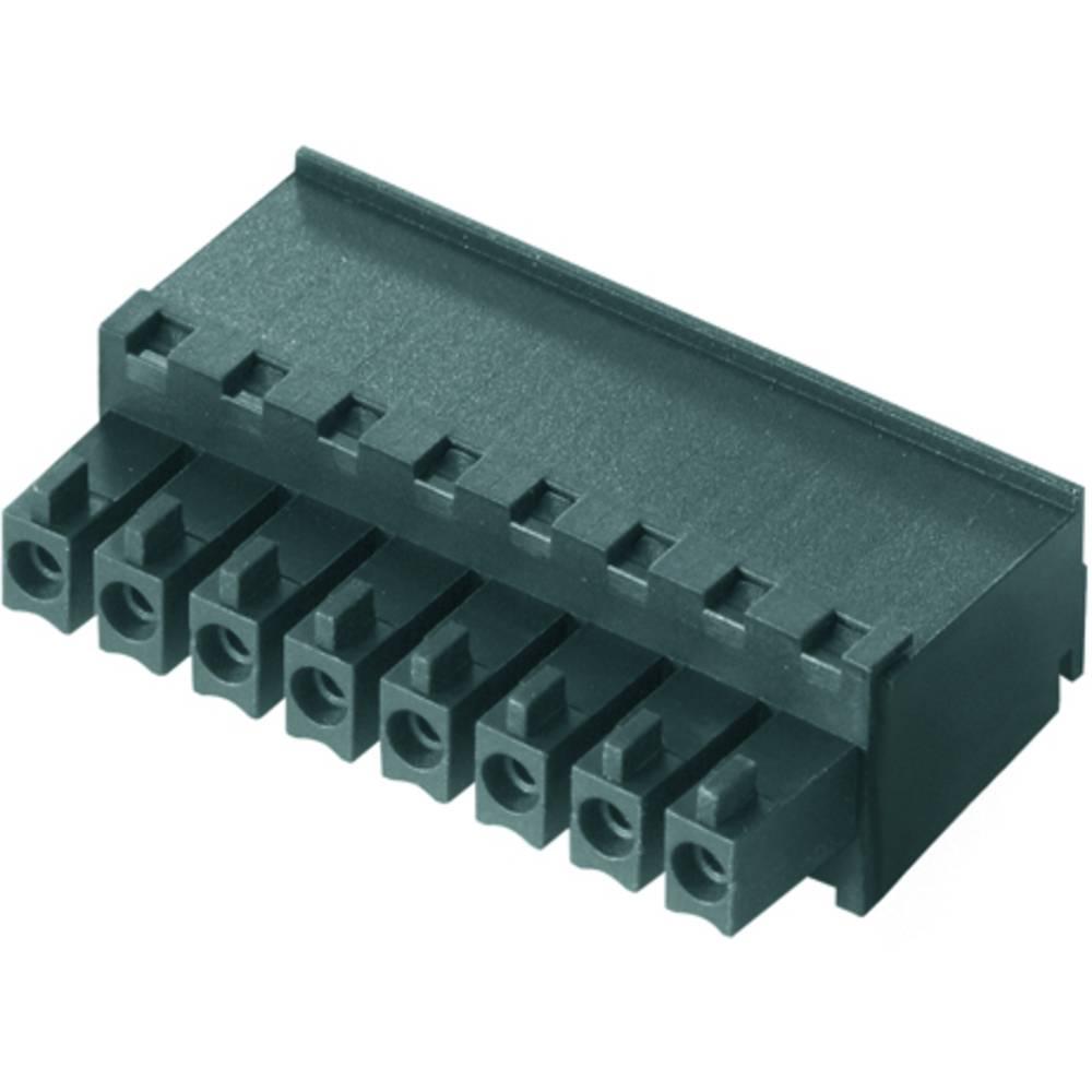 Tilslutningskabinet-kabel BC/SC (value.1360601) Samlet antal poler 8 Weidmüller 1798170000 Rastermål: 3.81 mm 50 stk