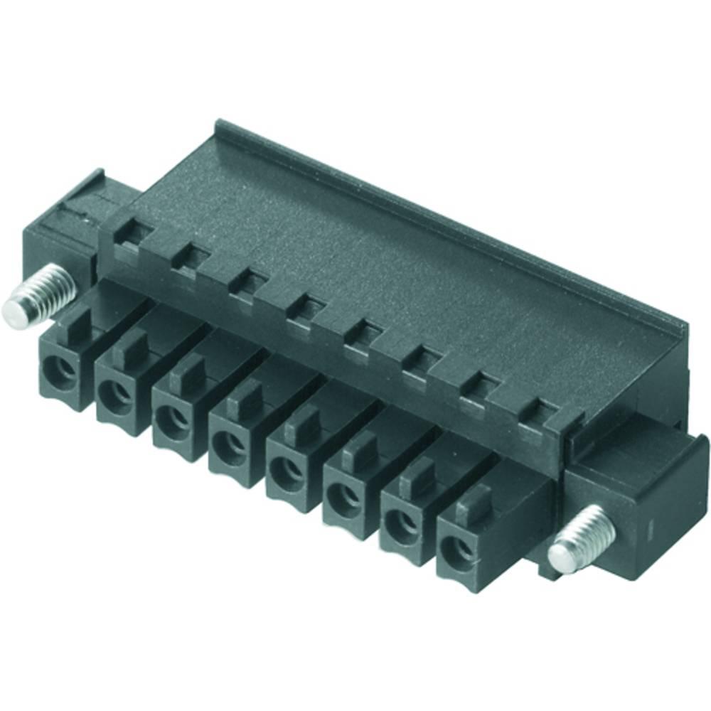 Tilslutningskabinet-kabel BC/SC (value.1360601) Samlet antal poler 10 Weidmüller 1799230000 Rastermål: 3.81 mm 50 stk