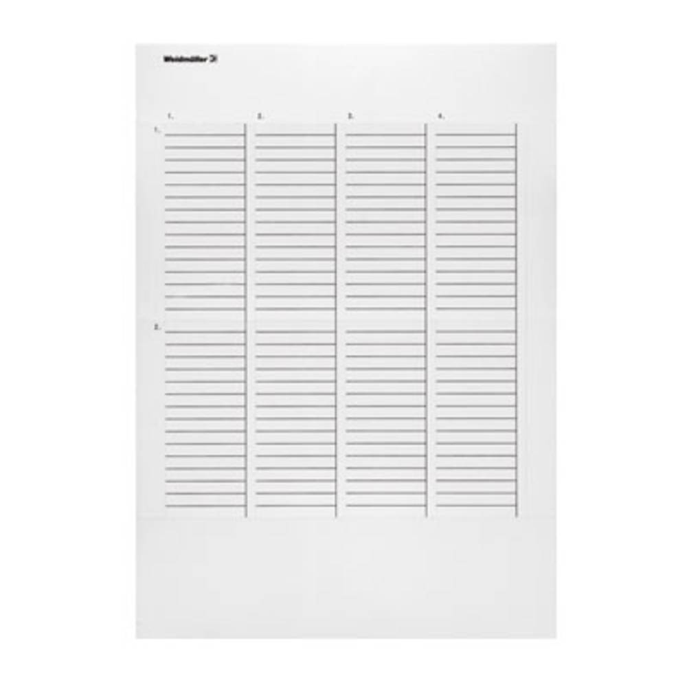 Printsystem printer Weidmüller THM WH 25.4/12.7 SI 1033270000 1 stk Sølv