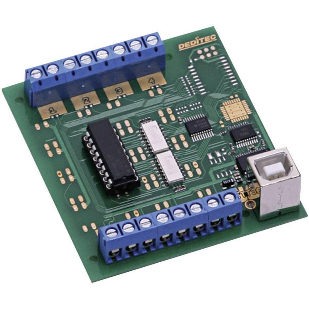 Deditec-USB modul, USB Sučelje, kompaktan, digitalni, 8 optičkih ulaza, vijčana montaža USB-OPTOIN-8_A