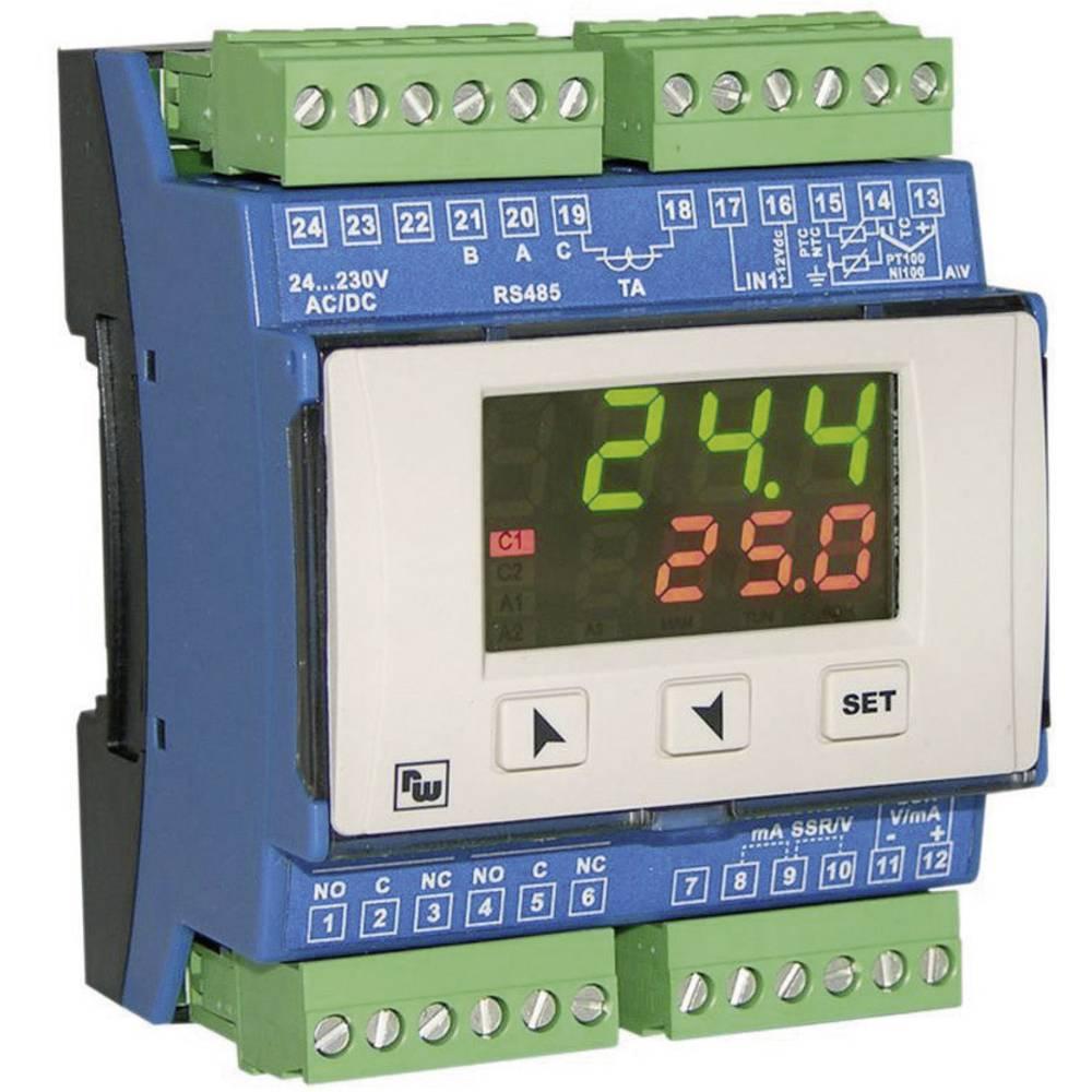 PID termostat Wachendorff URDR0001 K, S, R, J, Pt100, Pt500, Pt1000, Ni100, PTC1K, NTC10K rele 5 A, SSR, RS 485 (D x Š x V) 64 x