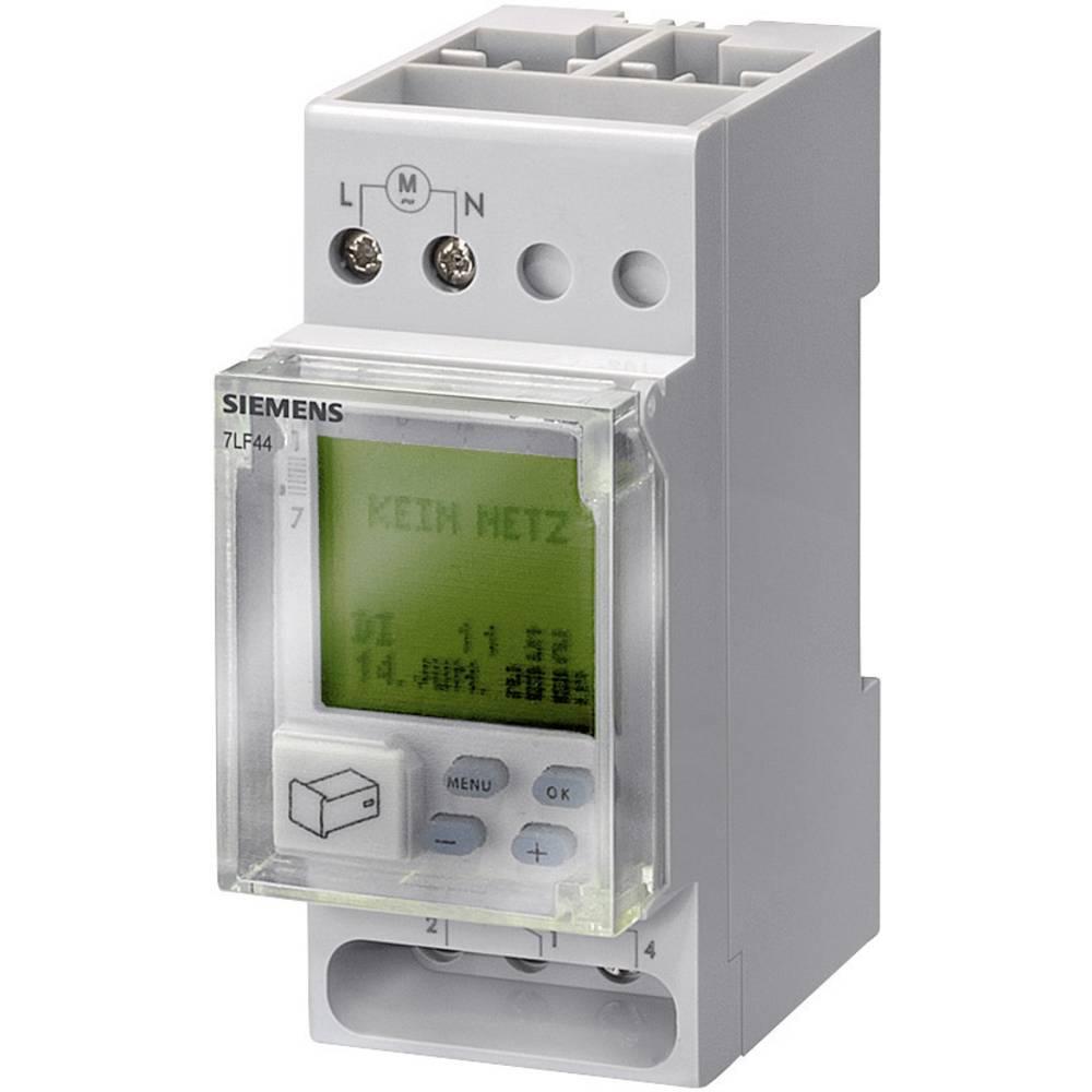 Uklopni sat za montažu na profilne šine, digitalni, Siemens 7LF4522-0 230 V/AC 16 A/250 V