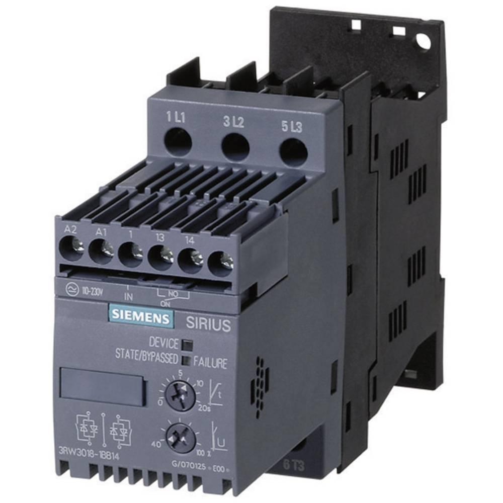 Mehki zaganjalnik Siemens 3RW3016 moč motorja pri 400 V 4.0 kW moč motorja pri 230 V 2.2 kW 400 V/AC nazivni tok 9 A