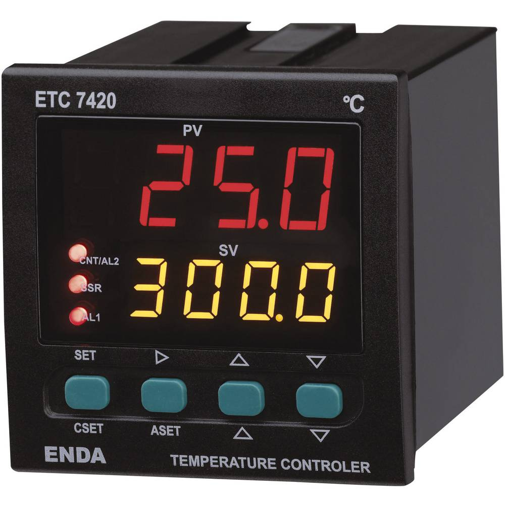Temperaturni PID-regulator Enda ETC7420-230, (ŠxVxG) 72 x 72x 101 mm 230 V/AC