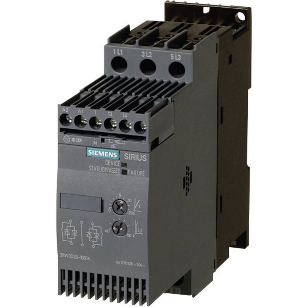Mekani zaganjač Siemens 3RW3027 snaga motora pri 400 V 15 kW snaga motora pri 230 V 7.5 kW 400 V/AC nazivna struja 32 A