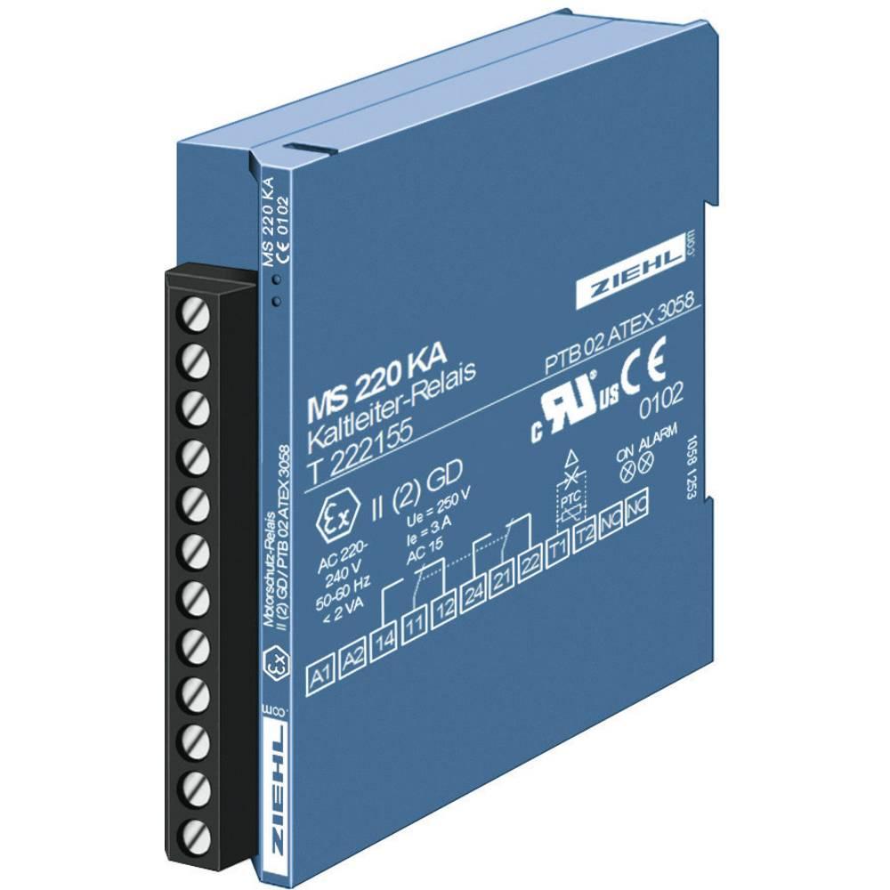 Sprožilnik za PTC-termistor Ziehl MS 220 KA, T 222145.CO, 200-240 V/50 Hz, izhodi: 1