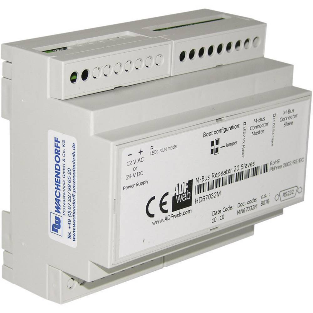 Wachendorff-M-Bus ponavljalnik HD67032 18-30V/DC ali 18V/AC/50Hz, vmesnik(n) 2xM-Bus,RS232