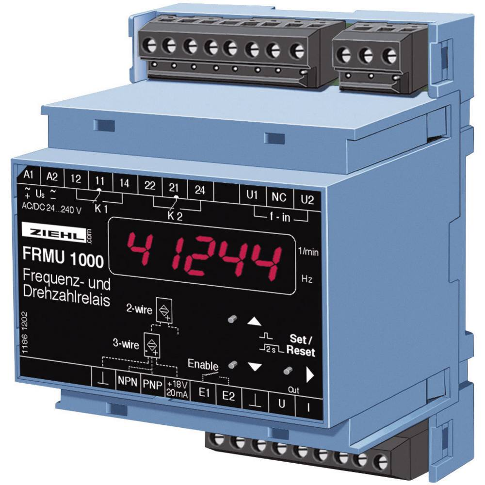 Ziehl FR 1000 U 226133.CO-Frekvencijski relej, broj okretaja, 24 - 240 V DC/AC, 2 izhoda