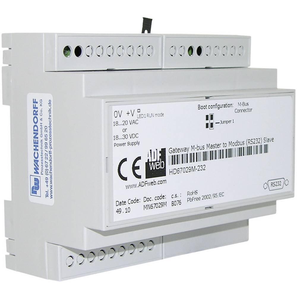 Wachendorff Gateway M-Bus na Modbus RTU HD67029M485 18 - 30 V/DC ali 18 V/AC/50 Hz, vmesnik M-Bus, RS232, RS48