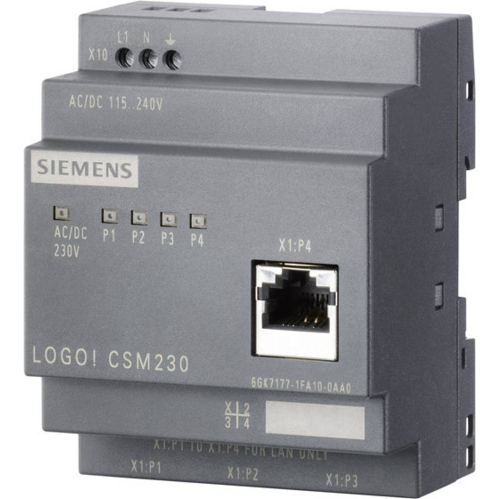 Kompaktno stikalo Siemens LOGO! CSM, brez upravljanja 6GK7177-1MA10-0AA0, 12/24 V/DC, št. vrat: 4