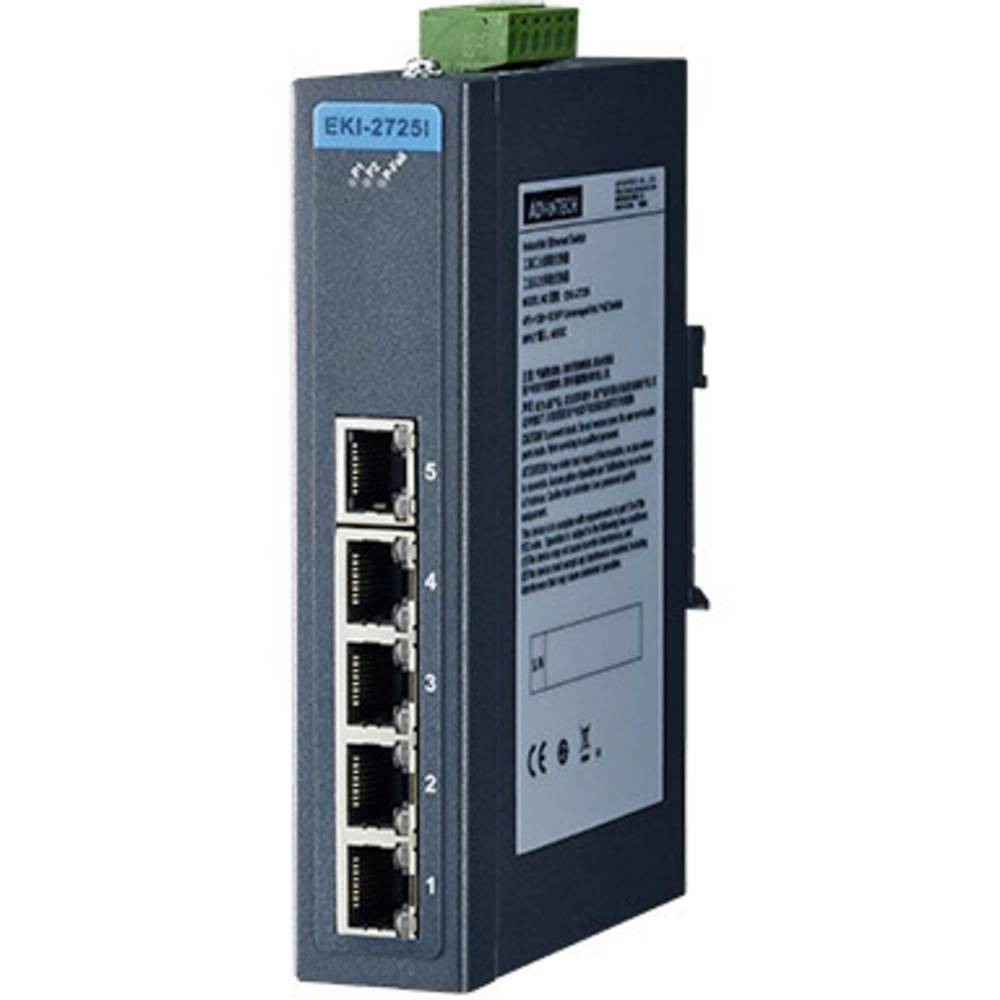 Vmesnik Advantech EKI-2725-AE,5 Port Unmanaged Gb EthernetSwitch, 12-48 V/DC