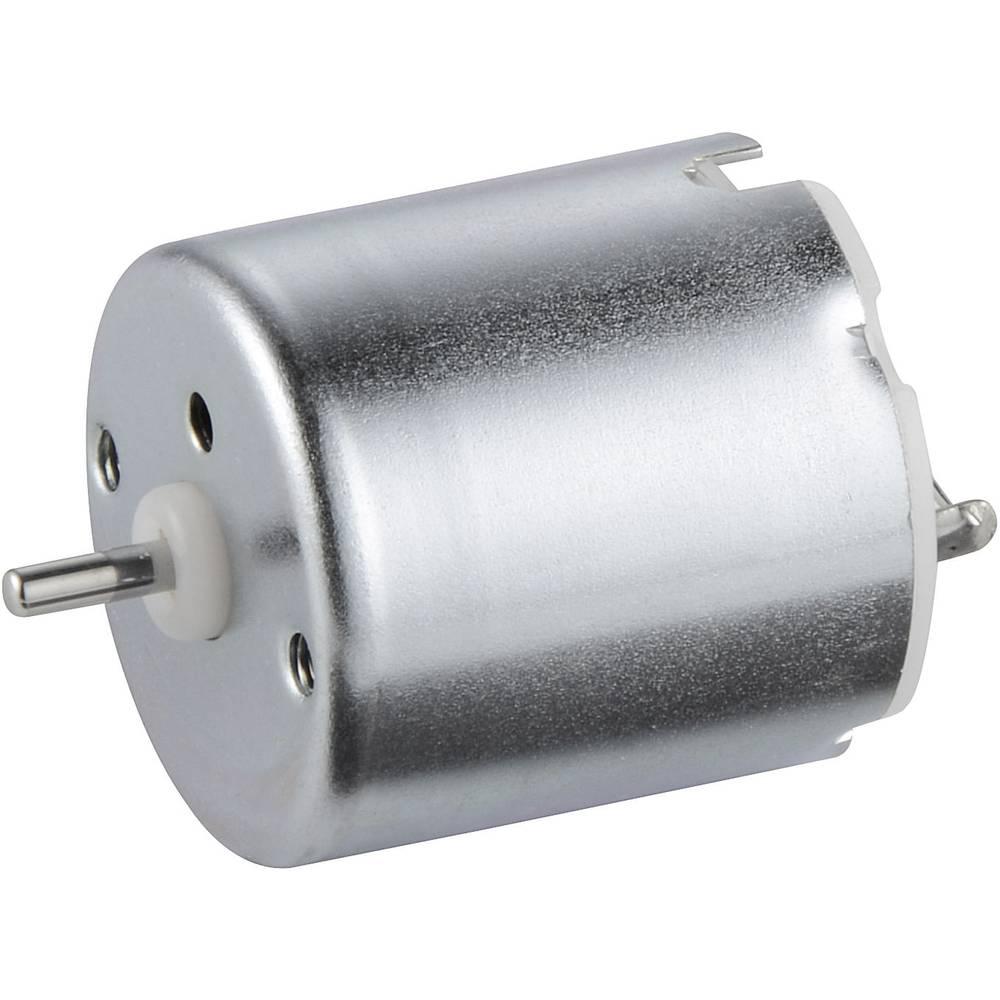 Solarni motor Conrad 0,4 - 3 V, duljina vratila 6,1 mm, promjer vratila 2 mm, nazivni broj okretaja 5000 U/min