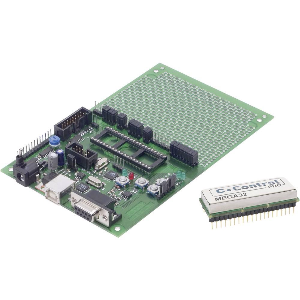 C-Control Pro Mega 32, vhodi/izhodi: 8 analognih vhodov (4 s po 8-pinskimi vhodi/izhodi) pomnilnik, varčni komplet