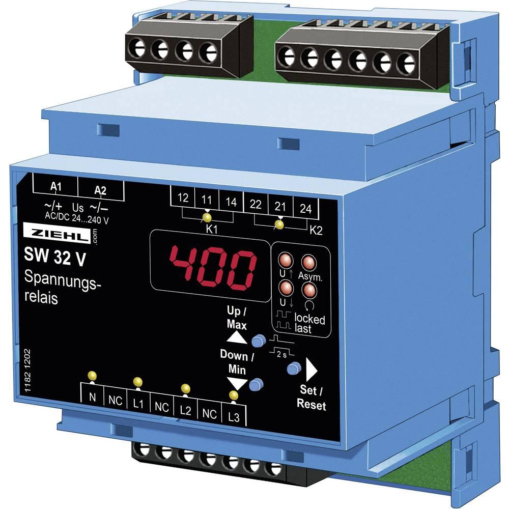 Univerzalni rele za nadzor napetosti Ziehl SW32V, S222279, 24-270 V DC/AC, izhodi: 2