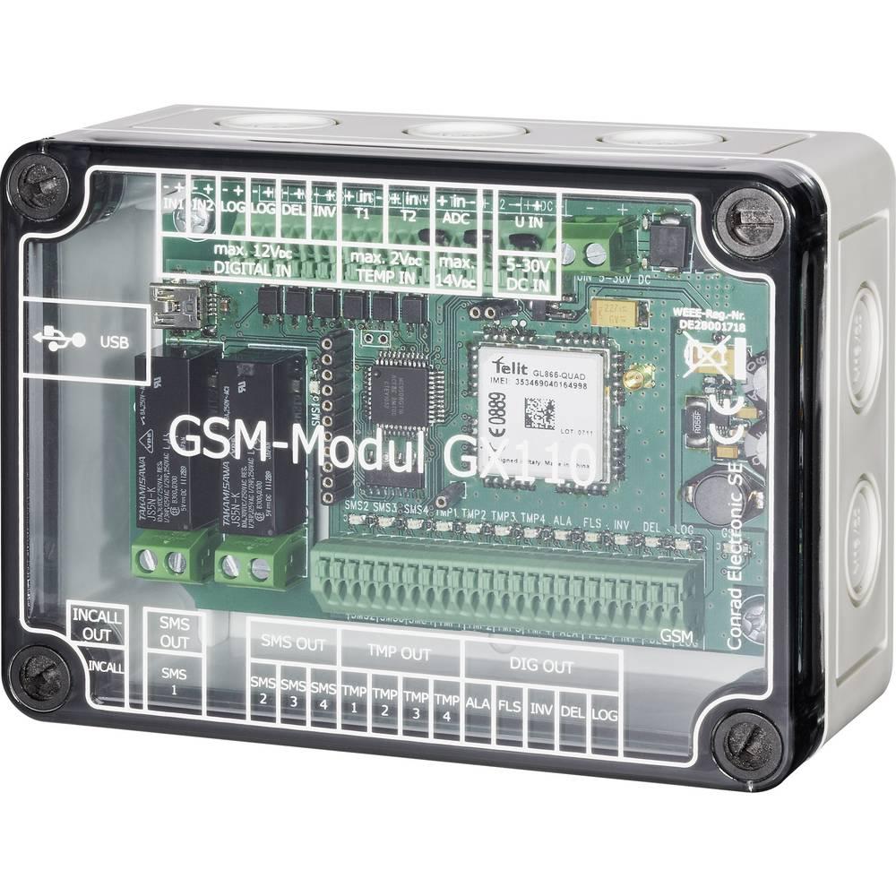 GSM-modul za daljinsko preklapljanje, mjerenje i alarmiranje Conrad GX110