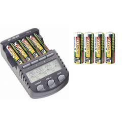 Polnilna naprava za okrogle baterije, vključno z akumulatorji VOLTCRAFT IPC-1L Micro (AAA), Mignon (AA)