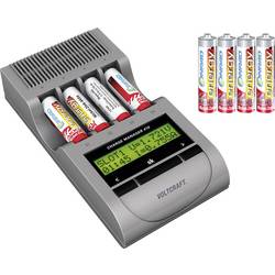 Batteriladdare NiCd, NiMH, NiZn inkl. batteri VOLTCRAFT Charge Manager CM410 AAA (R3), AA (R6)