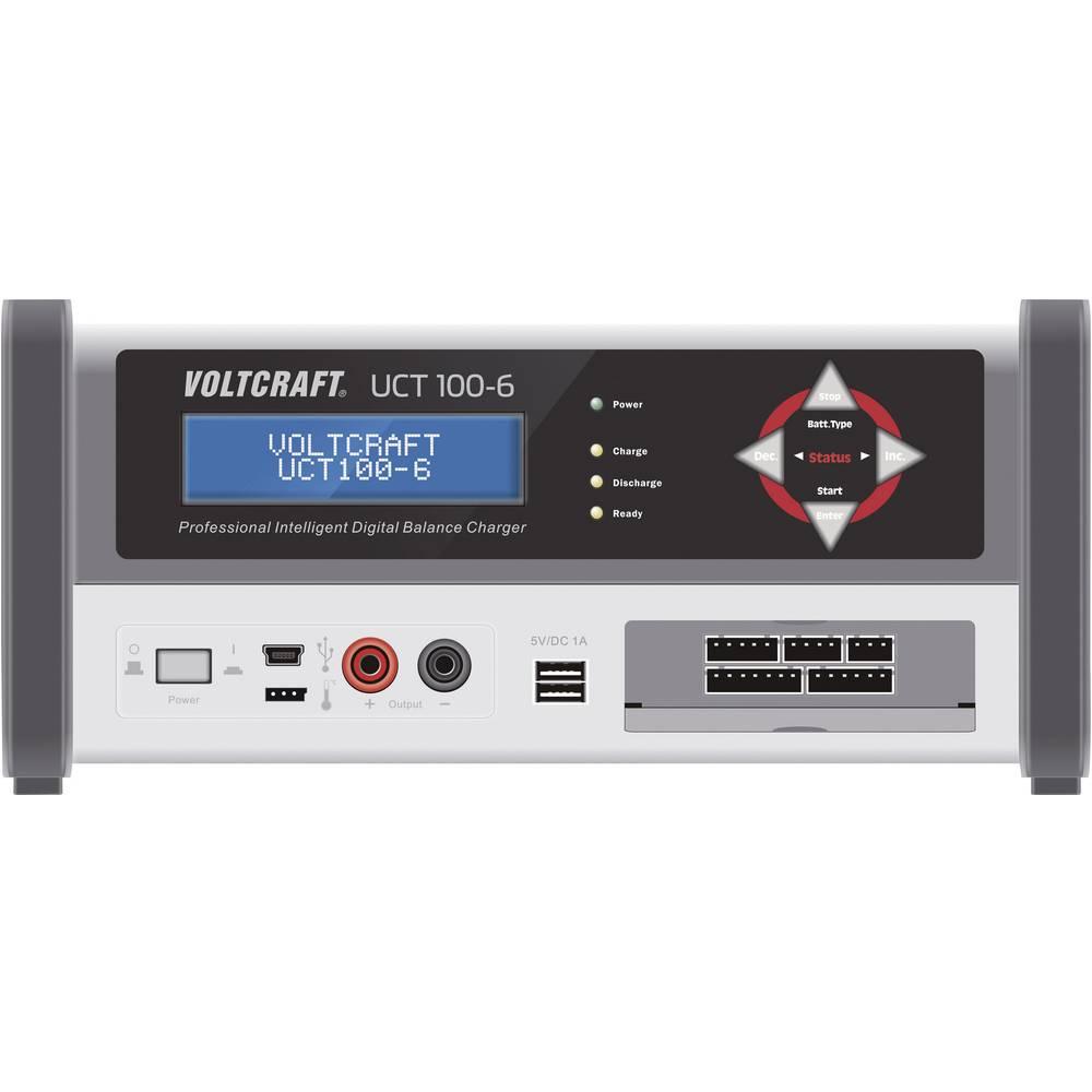 VOLTCRAFT akumulatorska polnilna postaja UCT 100-6 polnilna postaja, polnilna naprava UCT 100-6 za NiCd, NiMH, svinčevi akumulat