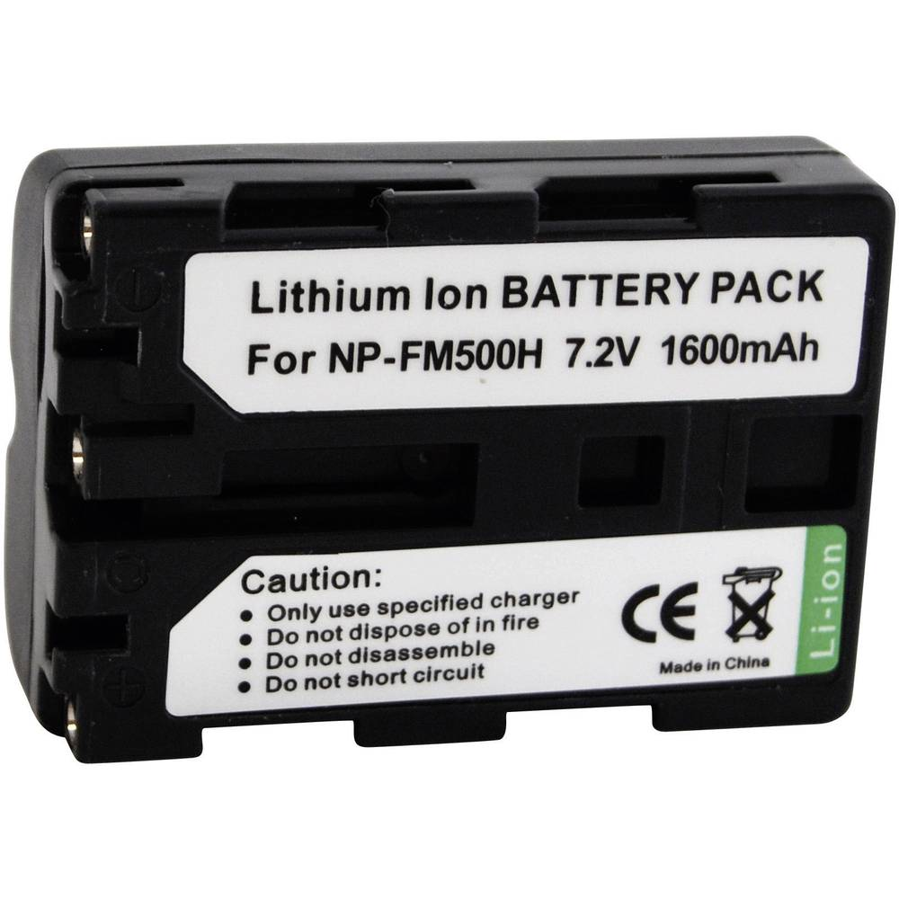 Akumulator za kamero Conrad energy nadomestek za originalni akumulator NP-FM500H 7.4 V 1300 mAh