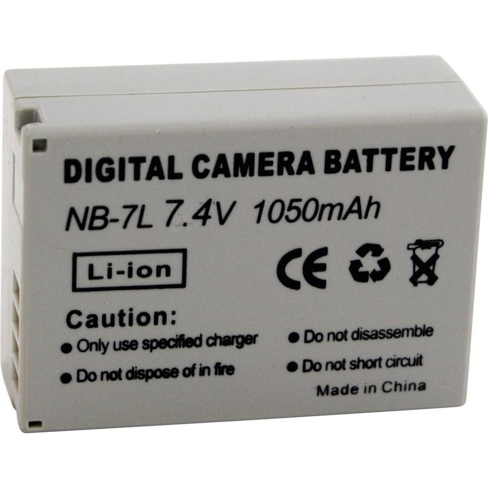 Akumulator za kamero Conrad energy nadomestek za originalni akumulator NB-7L 7.4 V 650 mAh