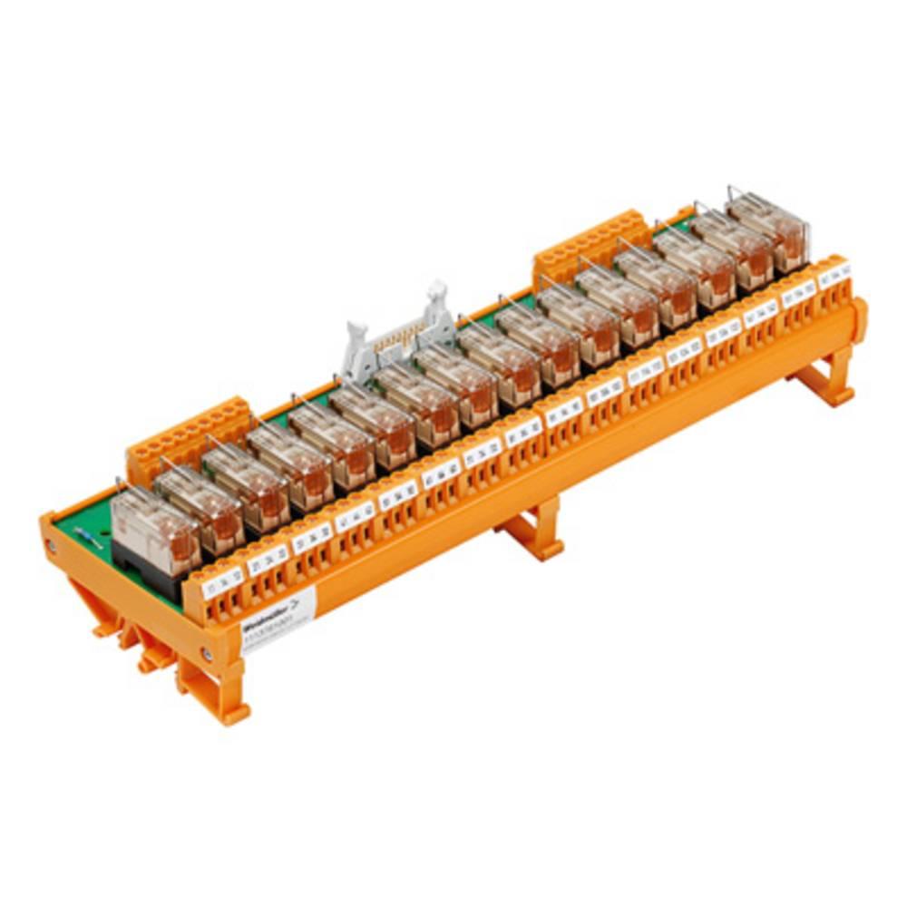 Relaisplatine (value.1292961) bestykket 1 stk Weidmüller RSM 16RS 24VDC LP GEM.+ 1 Wechsler (value.1345271) 24 V/DC