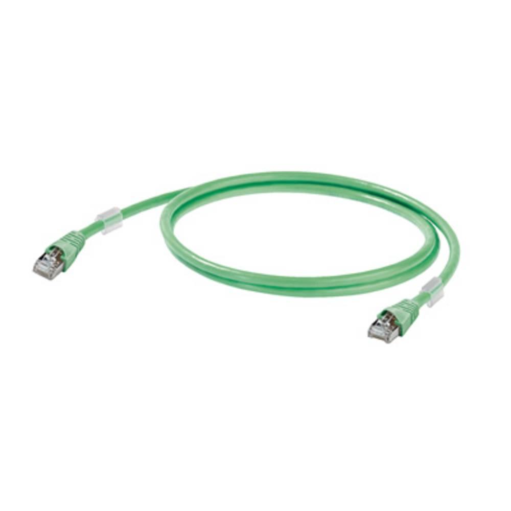 RJ45 omrežni priključni kabel CAT 5 SF/UTP [1x RJ45-vtič - 1x RJ45-vtič] 20 m zelen negorljiv