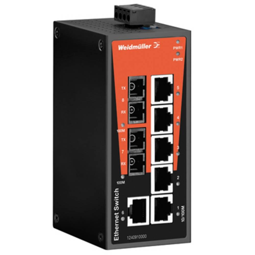 Omrežno stikalo, neupravljalno Weidmüller IE-SW-BL08-6TX-2SC število Ethernet vrat 6